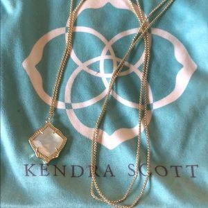 Kendra Scott Kacey Long Pendant in Ivory Pearl